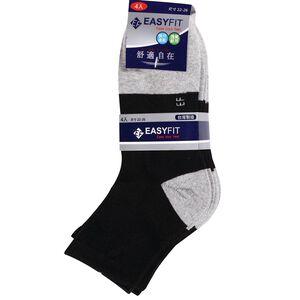 EF 1/2男女毛巾運動襪4入-顏色隨機出貨
