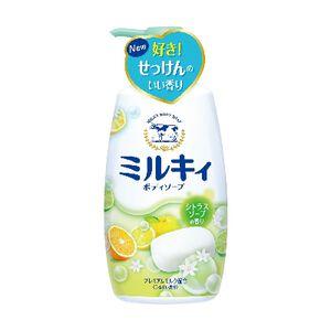 牛乳石鹼牛乳精華沐浴乳-柚子果香-550ml