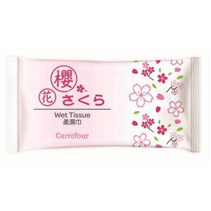 家樂福香氛柔濕巾-櫻花