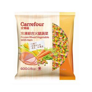 家樂福冷凍綜合火腿蔬菜