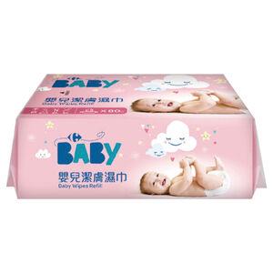 家樂福嬰兒潔膚濕巾量販包(粉紅)80PCx4包x4袋