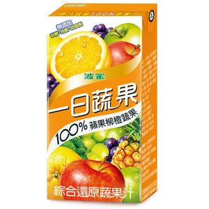 一日蔬果100蘋果柳橙蔬果 160ml