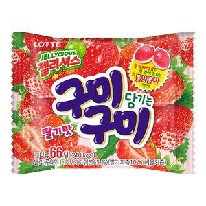 韓國樂天草莓QQ糖66g