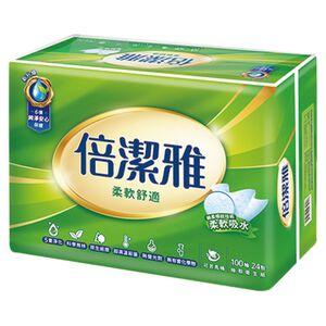 倍潔雅抽取式衛生紙100PCx24