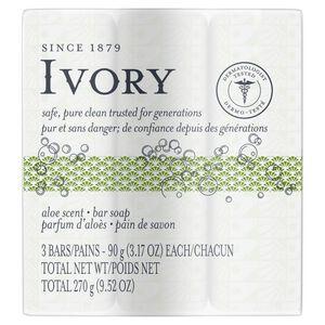 Ivory Aloe Bar Soap-3 p