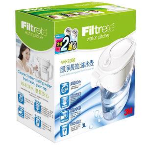【3M 好水】3M即淨長效濾水壺(一壺二心組)
