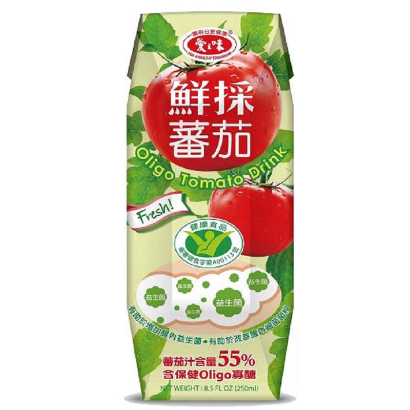 愛之味鮮採蕃茄汁-Oligo保健 250ml