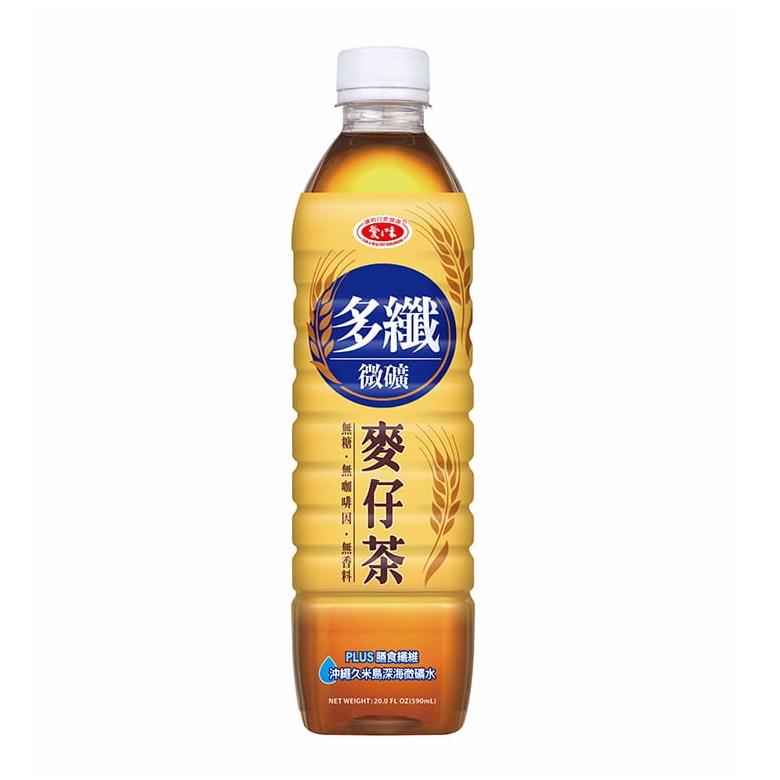 愛之味多纖微礦麥仔茶(無糖)590ml